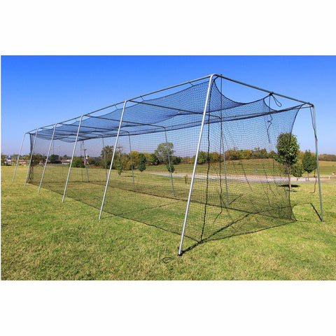 Cimarron Baseball 50' Complete Frame and Batting Cage Bundle Side View