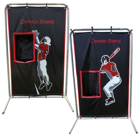 Cimarron 2-Sport Catcher Vinyl Backstop Front View