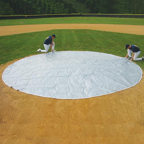 Weighted Pitcher's Mound Tarp Cover 20' - Pitch Pro Direct