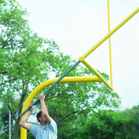 Bison 5-9/16″ Gooseneck Football Goalposts - Pitch Pro Direct