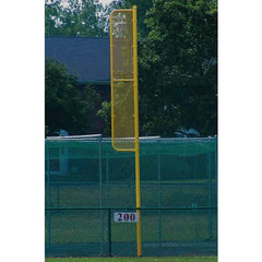 20' Professional Foul Pole (Baseball – Surface Mount) Yellow Front View