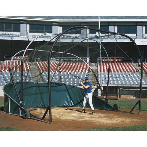 JayPro Grand Slam Portable Hitting Turtle Backstop For Baseball - Pitch Pro Direct
