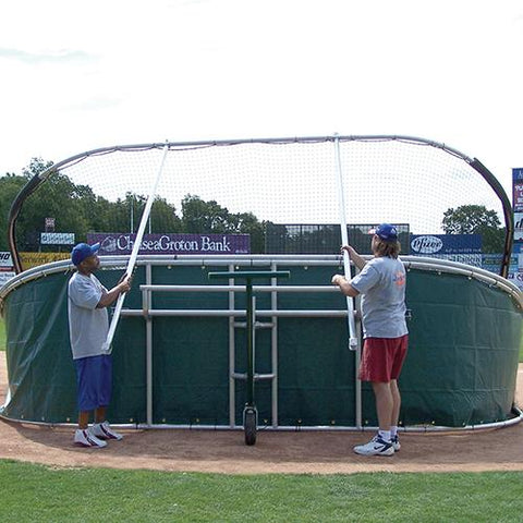 JayPro Little Slam Portable Hitting Turtle Backstop For Baseball - Pitch Pro Direct