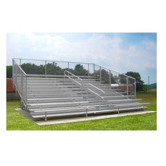 4 or 5 Rows Aluminum Bleachers with Safety Vertical Picket Railing