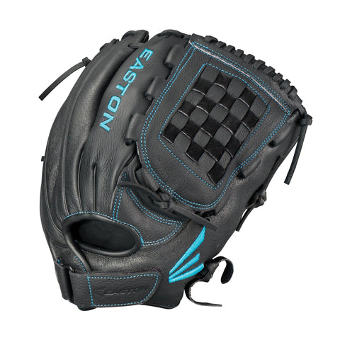 "Easton Pattern 12.5"" Black Pearl Fastpitch Softball Catcher's Gloves"