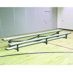 JayPro 15' Tip & Roll Standard Bleacher Natural Finish