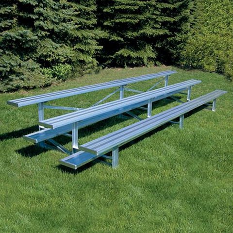JayPro 3 Row 21' All Aluminum Standard Bleacher Natural Finish