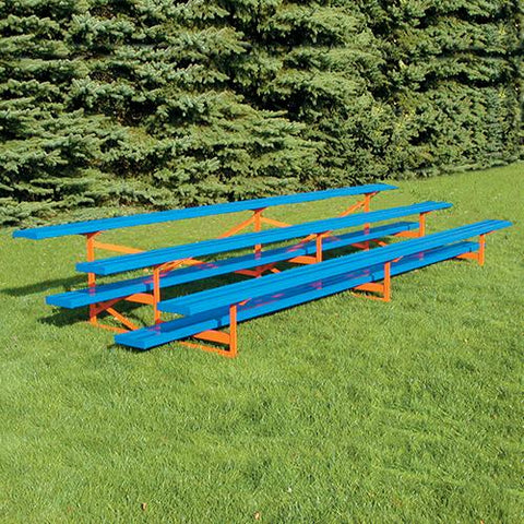 JayPro 3 Row 27'' Outdoor Standard Aluminum Bleacher - Pitch Pro Direct