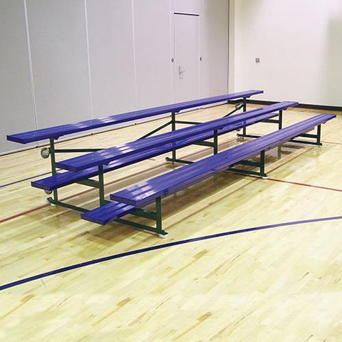 JayPro 15' Tip & Roll Standard Bleacher 3 Row Powder Coated