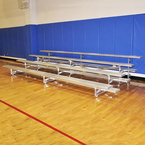 JayPro   7½' Tip & Roll Standard Bleacher (4 Row) Natural Finish