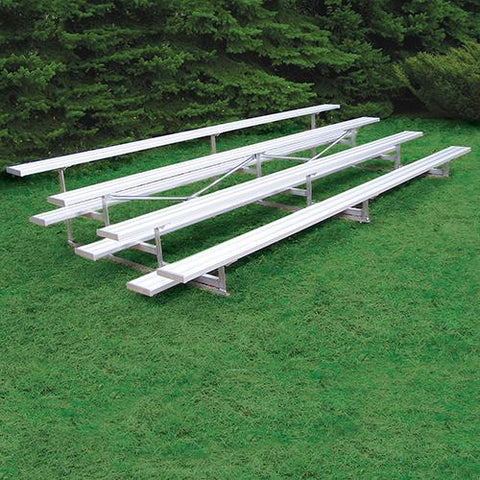 JayPro 4 Row 27' Outdoor Standard Bleacher Natural Finish