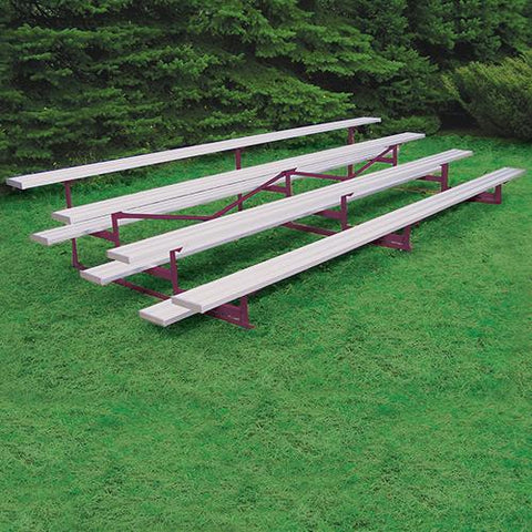 JayPro 4 Row 21' Outdoor Standard Bleacher Powder Coated