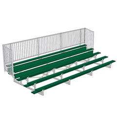 JayPro 5 Row 15' - 27' Enclosed Aluminum Bleacher w/ Guard Rail
