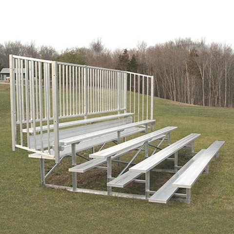 JayPro 5 Row 15' - 27' Enclosed Bleacher w/ Guard Rail - Pitch Pro Direct