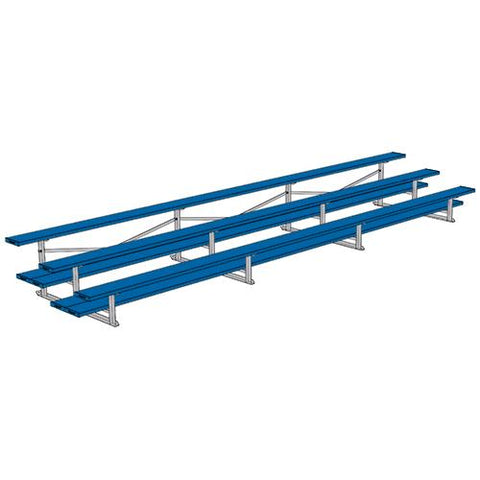 JayPro 3 Row 21' All Aluminum Preferred Bleacher