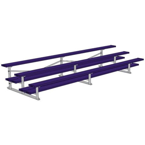 JayPro 3 Row 15' All Aluminum Preferred Bleacher Powder Coated Purple