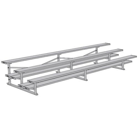 JayPro 3 Row 15' All Aluminum Preferred Bleacher Natural Finish