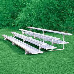 JayPro 4 Row 15' All Aluminum Preferred Bleacher Natural Finish