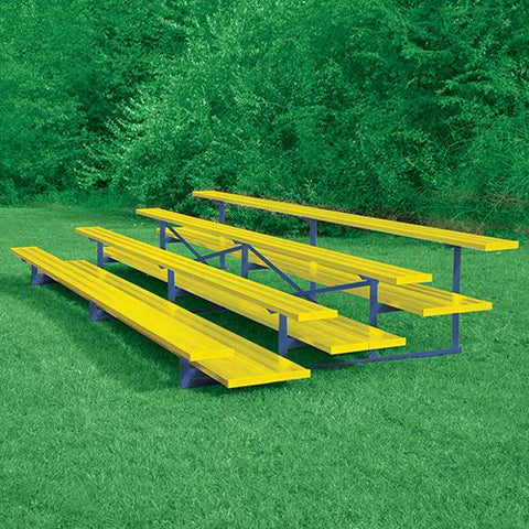 JayPro 4 Row 15' All Aluminum Preferred Bleacher Powder Coated