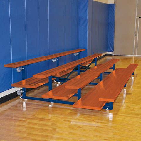 JayPro 15' Tip & Roll Standard Bleacher (4 Row) Powder Coated