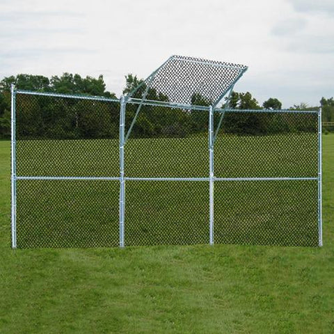 JayPro Permanent Baseball/Softball Backstop 3 Panel, 1 center overhang