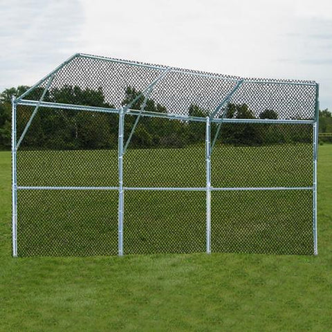JayPro Permanent Baseball/Softball Backstop 3 Panel, 1 center overhang, 2 wing overhang confirguration