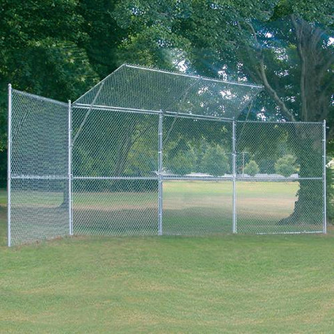 JayPro Permanent Baseball/Softball Backstop 4 Panel 2 Center Overhang