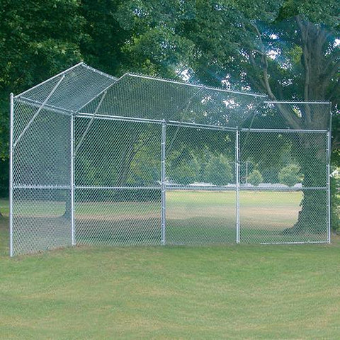 JayPro Permanent Baseball/Softball Backstop 4 Panel 2 Center Overhang 2 Wing Overhang