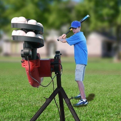 Heater Sports BaseHit Real Baseball Portable Pitching Machine - Pitch Pro Direct