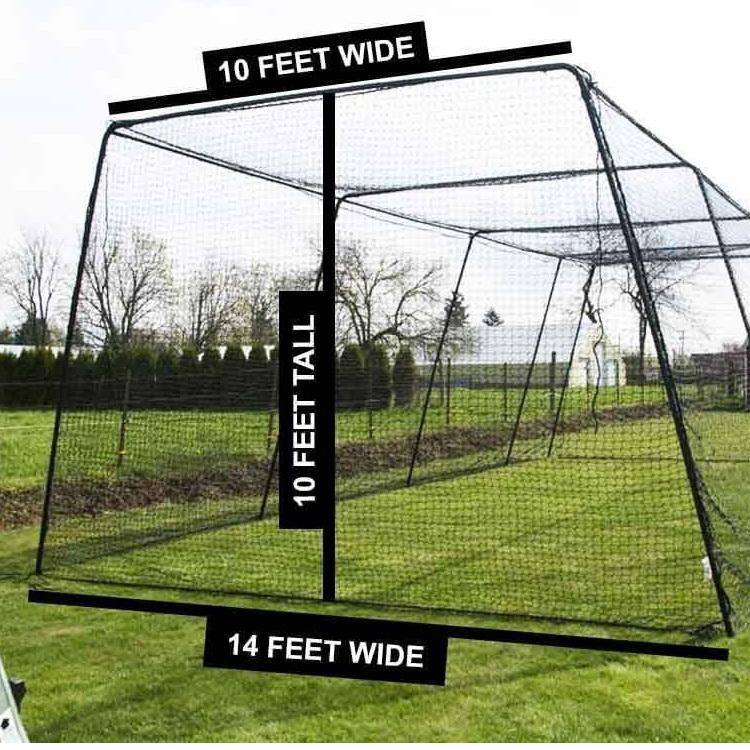Free Standing Batting Cage Package for Backyard and ...