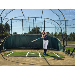 ProMounds 12' x 7' Softball Batting Mat Pro Green Or Clay - Pitch Pro Direct
