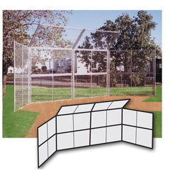 Chain Link Backstop - 20' w/ Hood & Wings