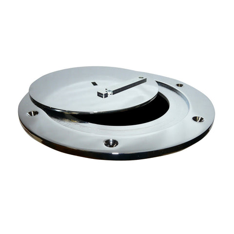 Bison Chrome Plated Steel Swivel Floor Socket Cover Plate Only - Pitch Pro Direct