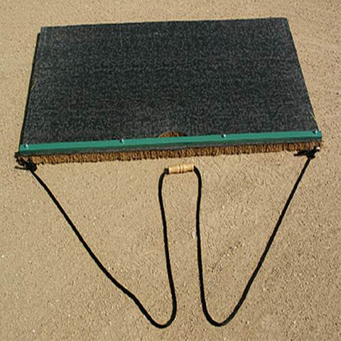 Cocoa Drag Mats Top View Field Groomers