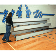 Bison Galvanized Steel Easy Store Indoor Bleachers