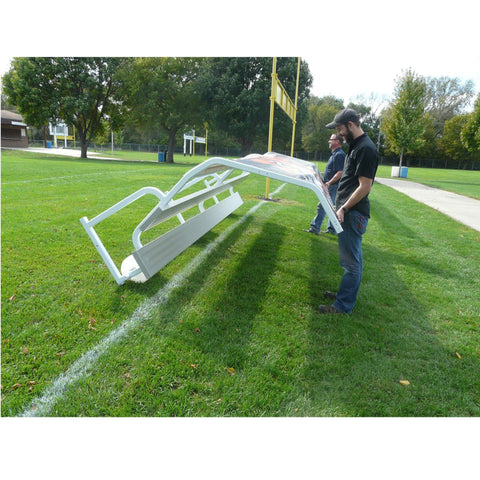 Bison Graphic Portable No-Tip Covered Bench - Pitch Pro Direct