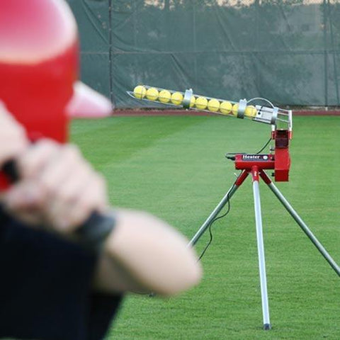 Heater Sports Real 12 inch Softball Machine With Ball Feeder - Pitch Pro Direct