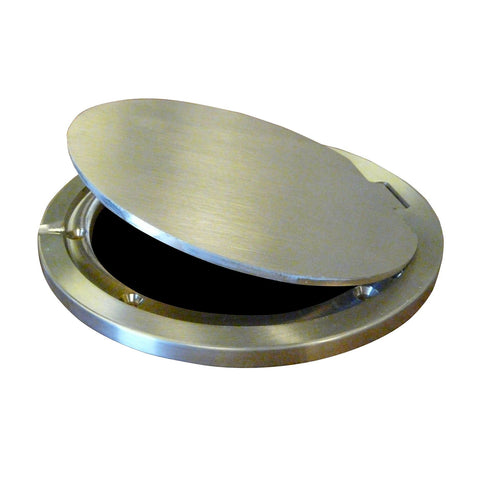 Bison Hinged Brass Floor Socket Cover Plate Only - Pitch Pro Direct