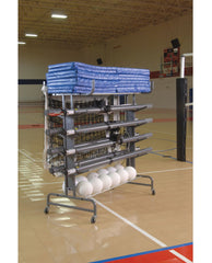 Bison Multi-Court Volleyball Storage System - Pitch Pro Direct