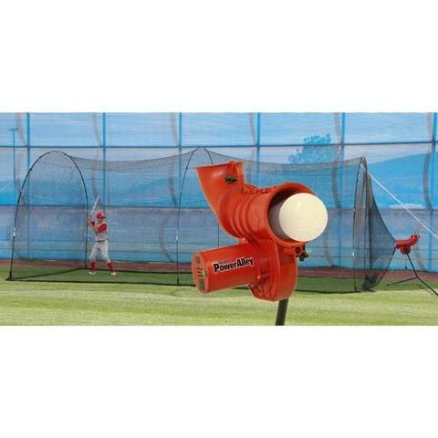 Power Alley 11 in Softball Machine & PowerAlley 22 Ft. Cage