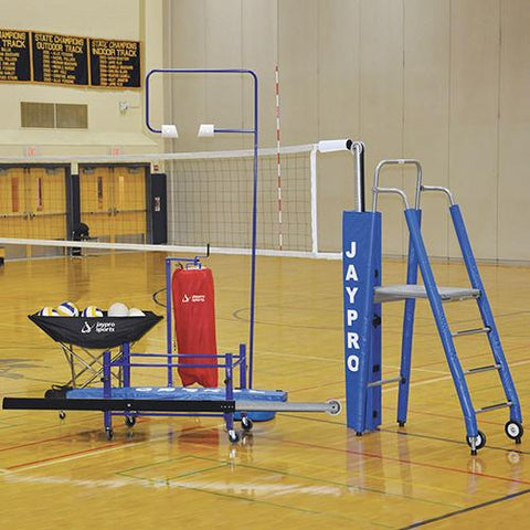 "JayPro 3½"""" Featherlite™ Deluxe Indoor Volleyball Complete Package - Pitch Pro Direct"