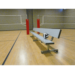 Bison Player Bench with Backrest - Pitch Pro Direct