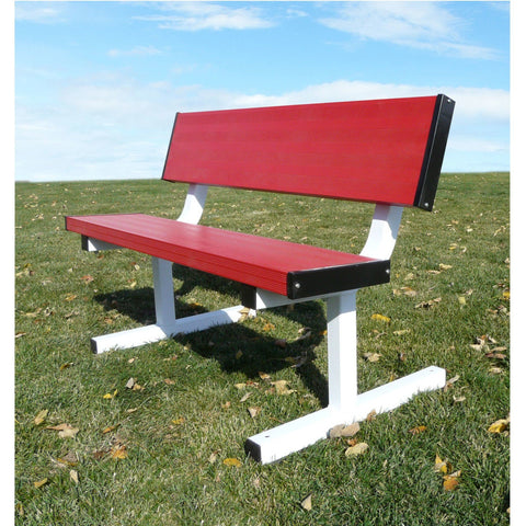 Bison All Aluminum Portable School Color 4′ Player Bench - Pitch Pro Direct