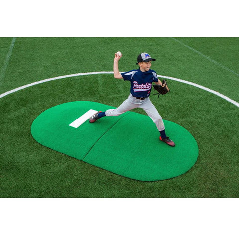 "PortoLite 6"" Two-Piece Little League Full Length Pitching Mound"