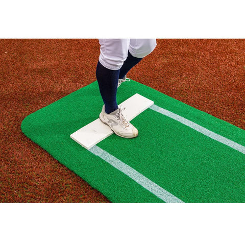 Portolite Pro Spiked Long Softball Mat - Lined
