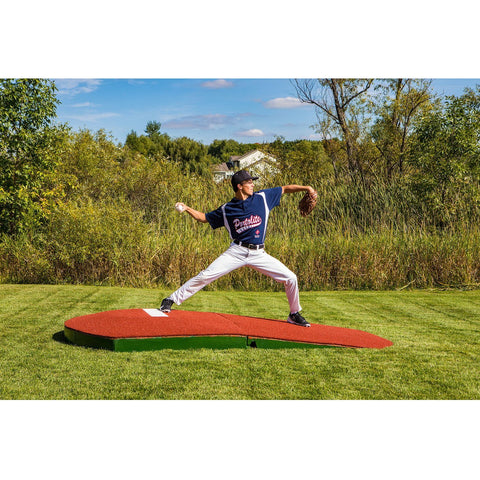 "Portolite 10"" Two-Piece Portable Oversize Practice Pitching Mound"