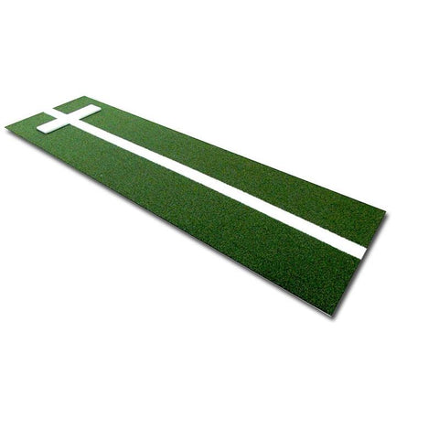 Cimarron 3'x10 Softball Pitcher's Mat with Power Stripe Green