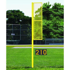 20' Collegiate Foul Pole (Baseball – Semi/Perm - Yellow) Front View