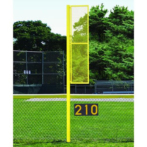 12' Softball Foul Pole -Semi Perm Front View