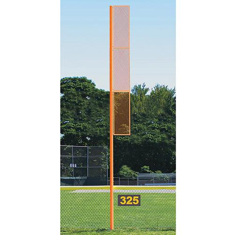 20' Collegiate Foul Pole (Baseball – Semi/Perm - Orange) Front View